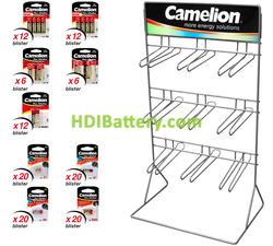 EXP083 Expositor de pilas alcalinas Camelion 212 pilas incluidas