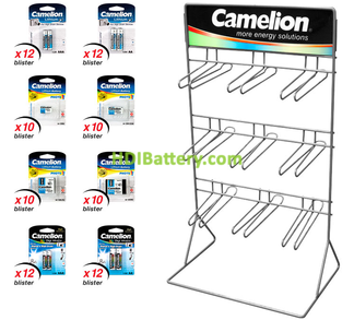 EXP084 Expositor de pilas para fotografía Camelion 136 pilas