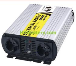 Inversor Onda Pura 24Vcc/220Vca 600W 50Hz