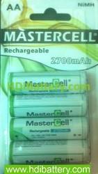 MASTERCELL REC NI-MH AA 2700MAH B4
