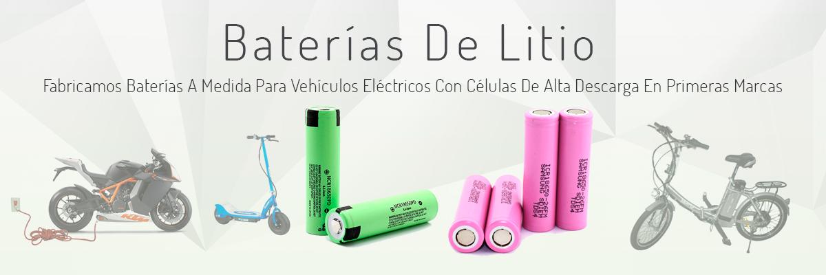 Venta de bater�as de litio. Fabricamos bater�as a medida para veh�culos eléctricos