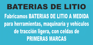 Venta de baterías de litio. Fabricamos baterías a medida para vehículos eléctricos