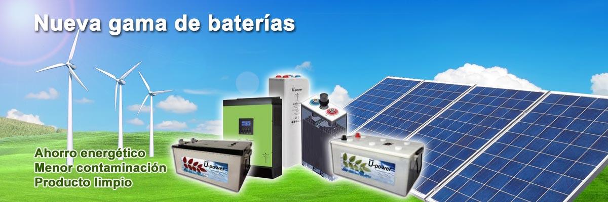 Nueva gama de baterías especial para energías renovables