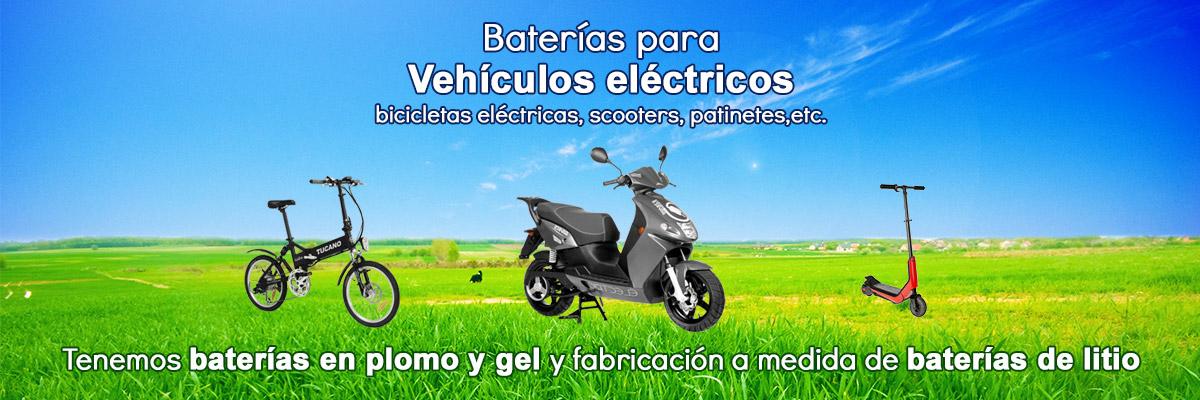 Venta de baterías de plomo, gel y litio para vehículos eléctricos. Fabricamos baterías a medida