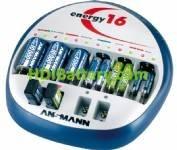 Cargador de baterías Ni-Cd/NI-MH 1-12 AAA, AA, 1-6 Baby C, Mono D y 1-4 Block 9V