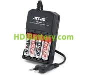 Cargador baterías 1-4 AAA/AA NI-MH