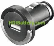 Cargador Alimentador 12-24Vcc / USB 5Vcc-1200mA