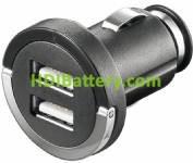 Cargador Alimentador 12-24Vcc / Dual USB 5Vcc-1Ax2 ó 2Ax1