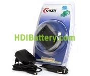 CAR111 Cargador de Litio para Kodac Klic 7000, Nikon ENEL8