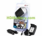 CAR160 Cargador de baterías Samsung BP-70A, SLB-70A