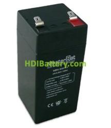 Bateria de Plomo 4 Voltios 4,5 Amperios 48X48X102mm