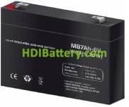 Batería para Alarma 6v 7Ah Plomo Agm