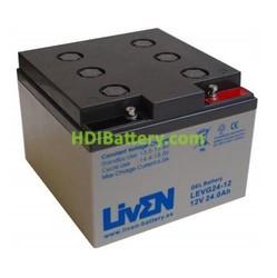Batería para Caravana 12v 24ah Gel Puro LEVG24-12 Liven