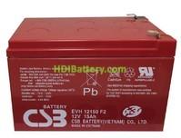 Batería para Caravana 12v 15ah Plomo AGM EVH12150 CSB
