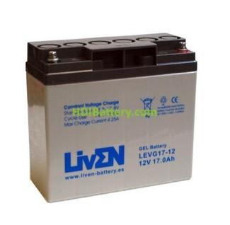 Batería para carro de golf 12v 17ah Gel Puro LEVG17-12 Liven