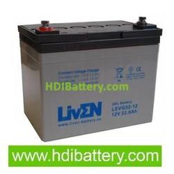 Batería para silla de ruedas 12v 32ah Gel puro LEVG32-12 Liven