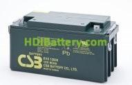 Bateria de Plomo EVX-12650 CSB 12 Voltios 65 Amperios