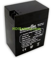 Bateria de Plomo 6 Voltios 16 Amperios (108X70X140mm)