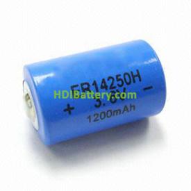 PILA DE LITIO 1-2 AA 3,6V 1,2A 14X25mm LPT2150 ER14250