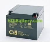 Bateria de plomo EVX-12260 CSB 12 Voltios 26 Amperios ¡¡ Especial cíclica ¡¡