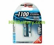 Batería recargable cilíndrica NI-MH AAA/R03