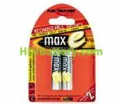 Batería recargable cilíndrica NI-MH ANSMANN AA/RC06 2100mAh