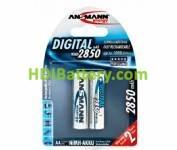 Batería recargable cilíndrica NI-MH ANSMANN AA/RC06 2850mAh