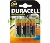 Batería recargable cilíndrica NI-MH DURACELL AA/RC06