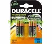 Batería recargable cilíndrica NI-MH DURACELL AAA/RC03 750mah