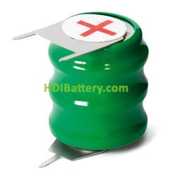 Pack Batería boton recargable 3,6V 80mAh NI-MH