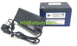 Pack Batería Litio ion Samsung 24V 14.5Ah + BMS + Cargador 29.4V 2A
