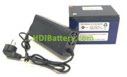 Pack Batería Litio ion Samsung 24V 17.5 Ah + BMS + Cargador 29.4V 2A