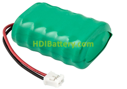 Pack Batería recargable 7,2V 150mAh NI-MH 24,0x16,0x35,5mm GB160 x 6, con conector