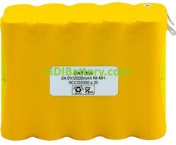 Pack de baterías 24V/2000mAh Ni-Cd