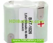 Pack de baterías 3,6V/300mAh NI-MH
