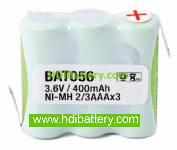 Pack de baterías 3,6V/400mAh NI-MH
