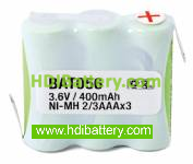 Pack de baterías 3,6V-400mAh NI-MH