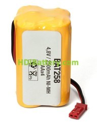 Pack de baterías 4,8V/2500mAh NI-MH AA x 4, Tipo Flasco, Conector BEG
