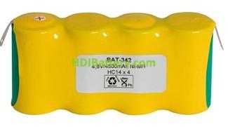 Pack de baterías 4,8V-4500mAh NI-MH RCMH4500 x 4