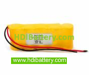 Pack de baterías 6V-2000mAh Ni-Cd.