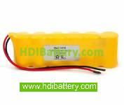 Pack de baterías 7,2V-2000mAh Ni-Cd.