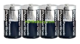 Pila Alkalina Panasonic Power Line LR20AR ( D )1,5v 4 unidades
