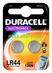 Pila de Botón Alcalina LR44 DURACELL 2 unidades