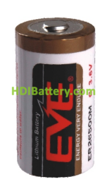 Pila Litio EVE ER26500M 3,6V 6000mAh