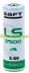 Pila Litio SAFT LS17500 3,6V Litio Cloruro de Tionilo