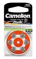 Pila para audifono A13, PR13, DA13, V123, PR48 Camelion