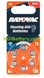 Pila RAYOVAC para audífono A13, PR48
