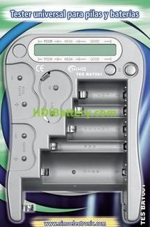 Tester universal para pilas y baterías